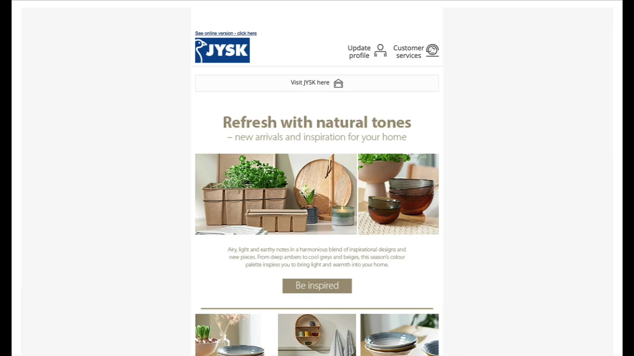 Jysk - newsletter-to-brochure