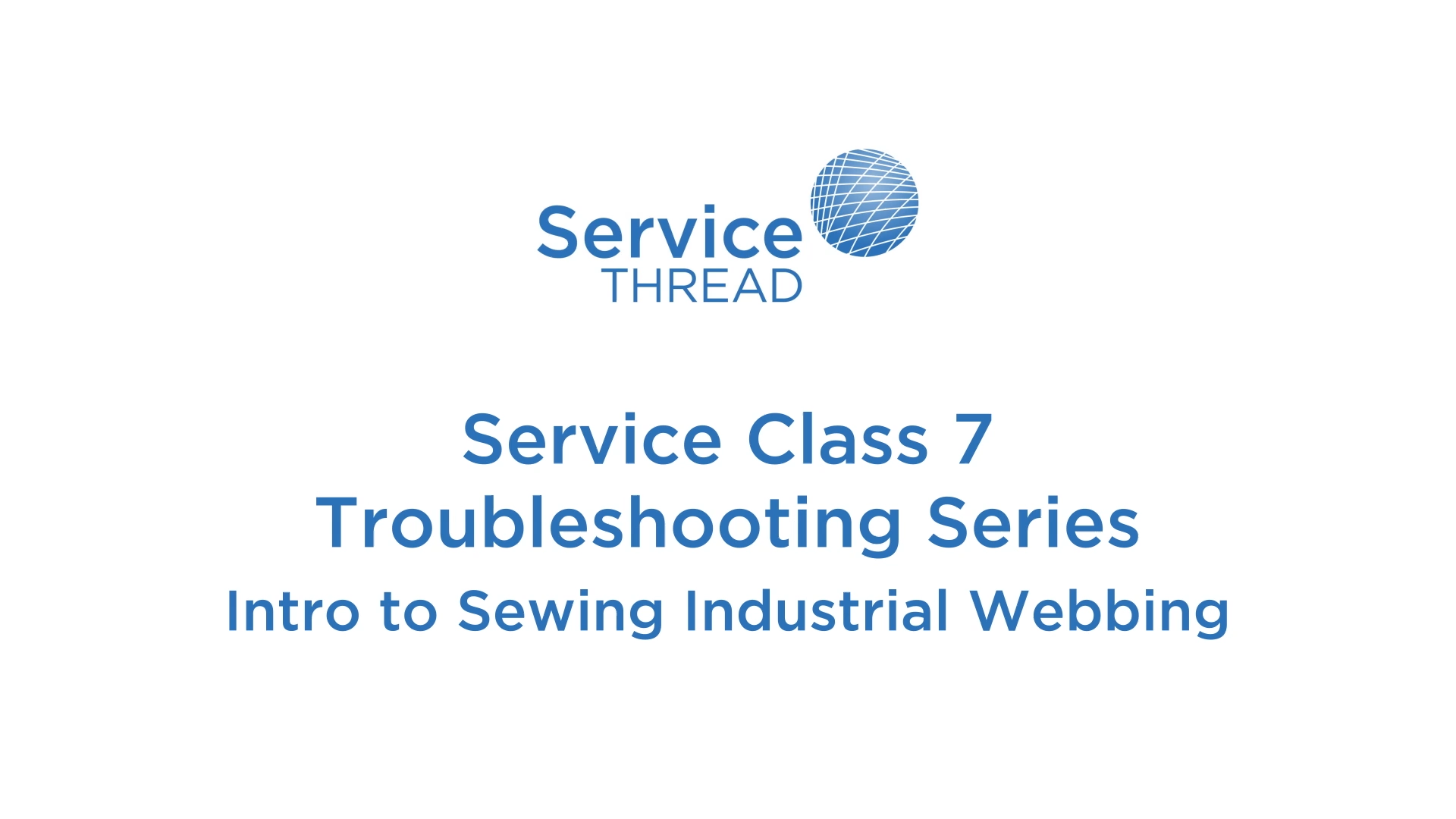 Intro to Sewing Industrial Webbing