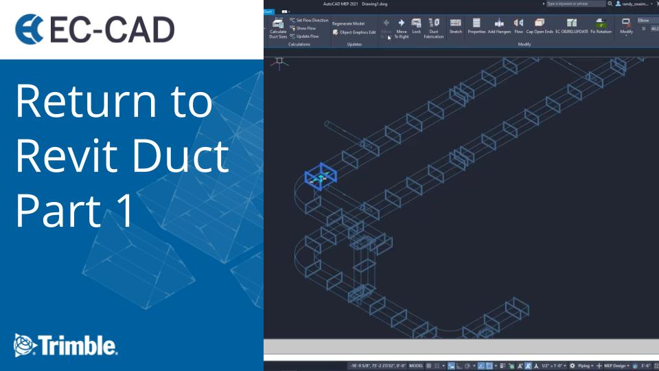 Return to Revit Duct Part 1
