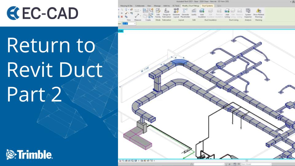 Return to Revit Duct Part 2