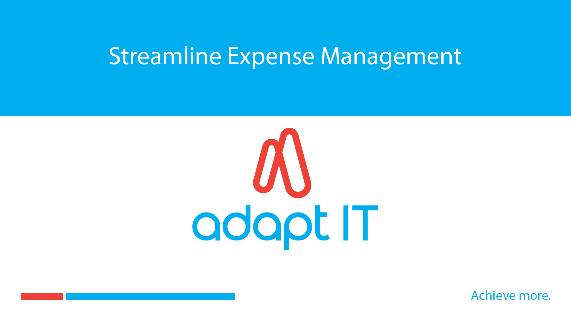 Streamline Expense Management