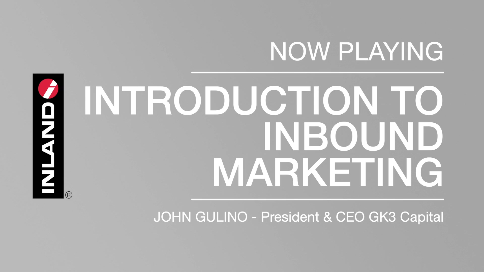 Introduction to Inbound