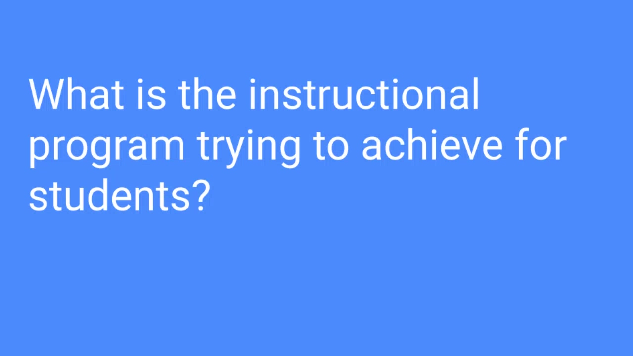 What is the instructional program trying to achieve_ ‐ Made with Clipchamp