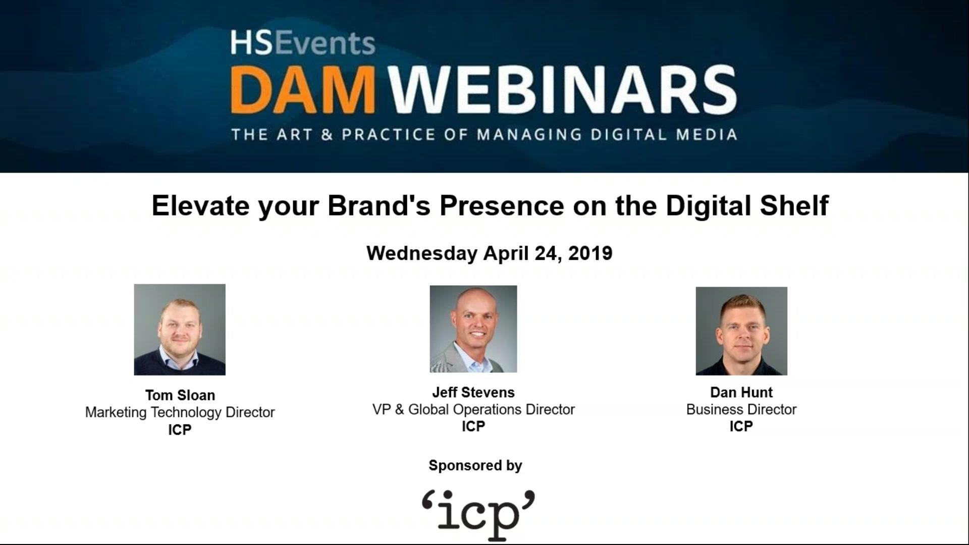 5) 24 April 2019 -  Elevate your Brand_s Presence on the Digital Shelf