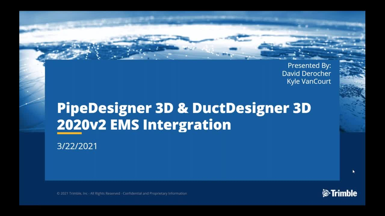EC-CAD, PD3D & DD3D Release Pre-Recorded Webinars