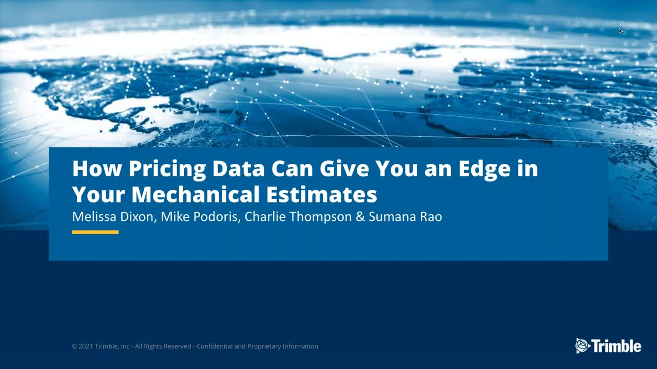 [Webinar Recording] How Pricing Data Can Give You an Edge in Your Mechanical Estimates