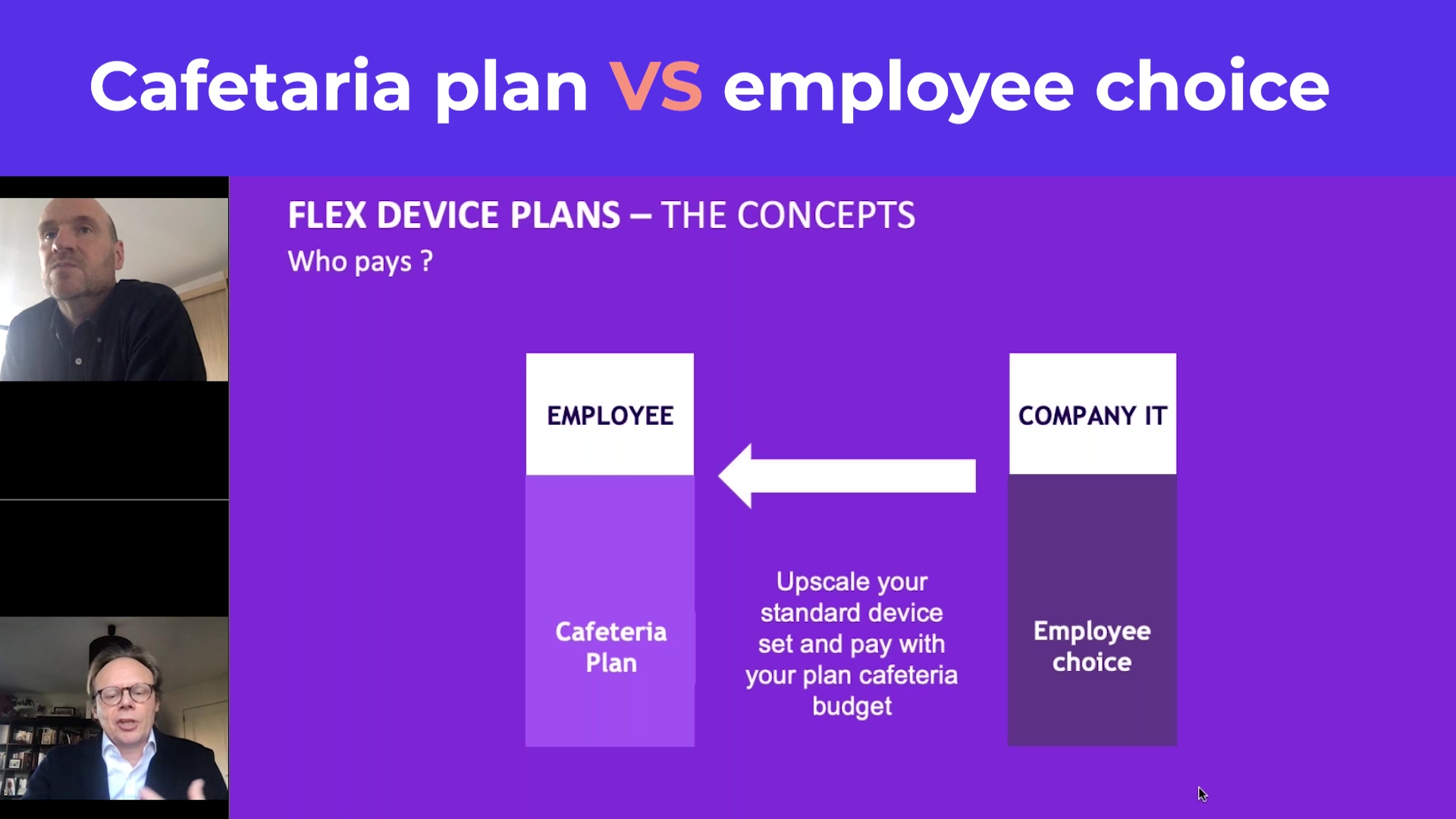 webinar plan cafet - difference plan cafet and employee choice