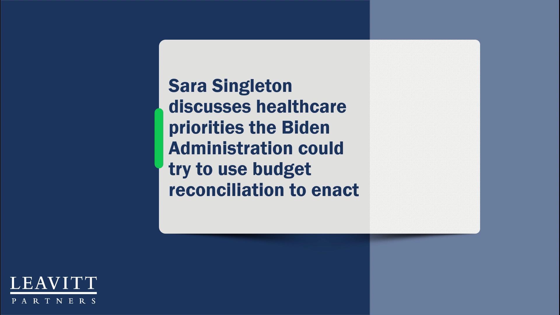 Biden Healthcare Priorities Quick Take-1