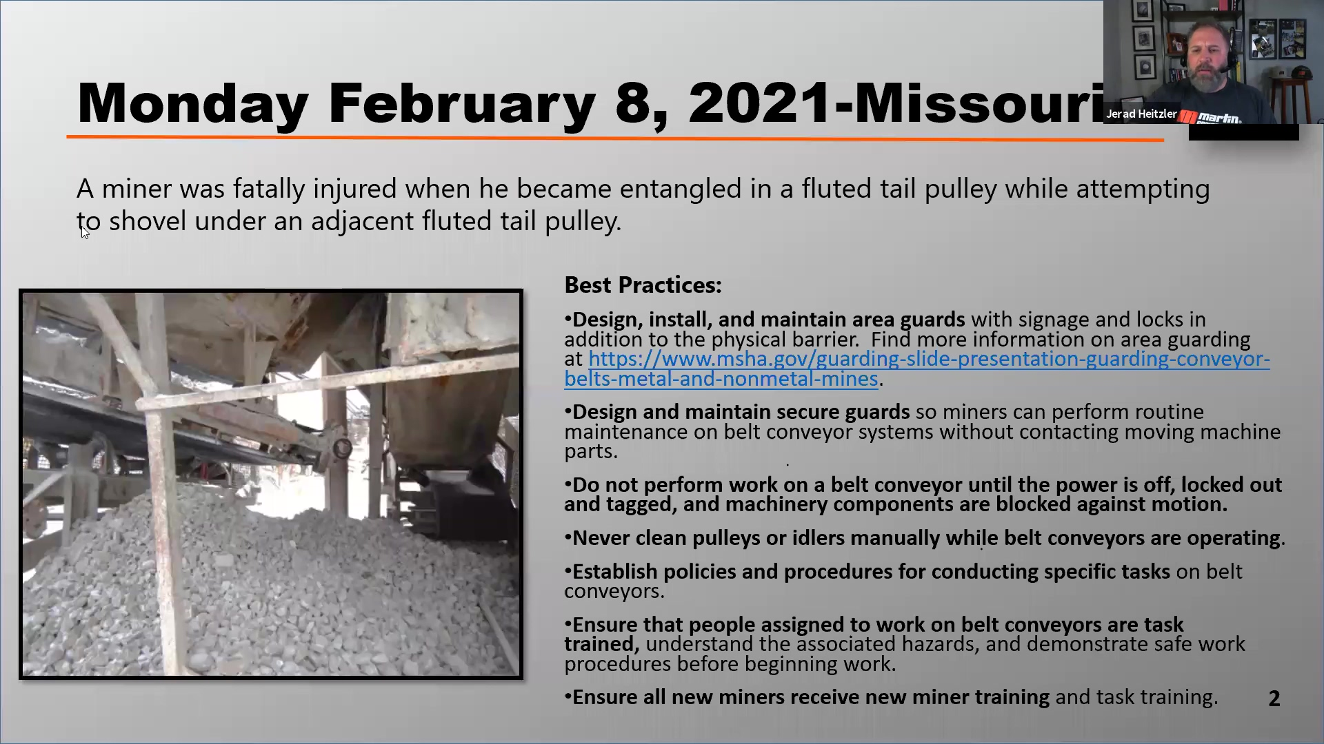 Edited Webinar Recording - Protecting Workers from Tail Pulley Hazards 2