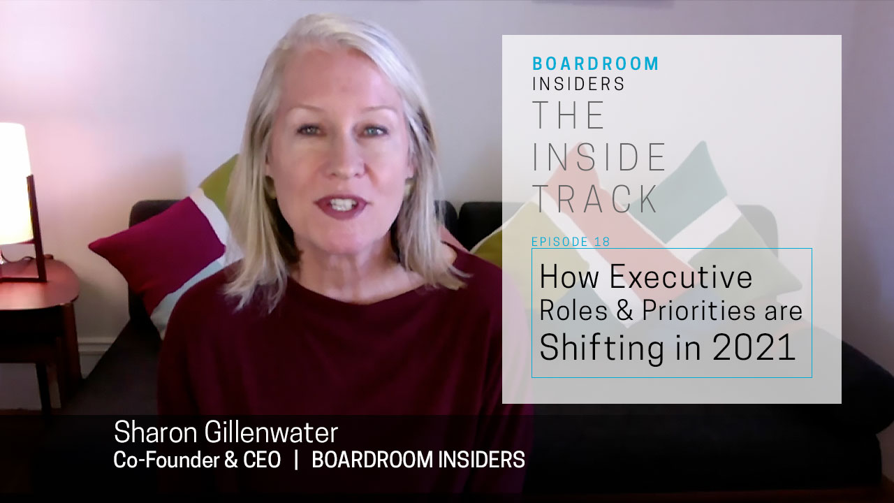 Inside Track18- How Executive Roles and Priorities are Shifting in 2021