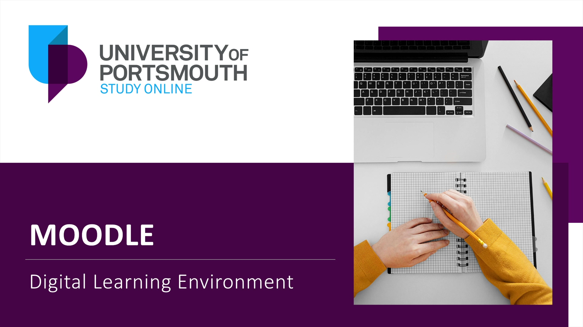 Moodle - The University of Portsmouth Online Digital Learning Environment