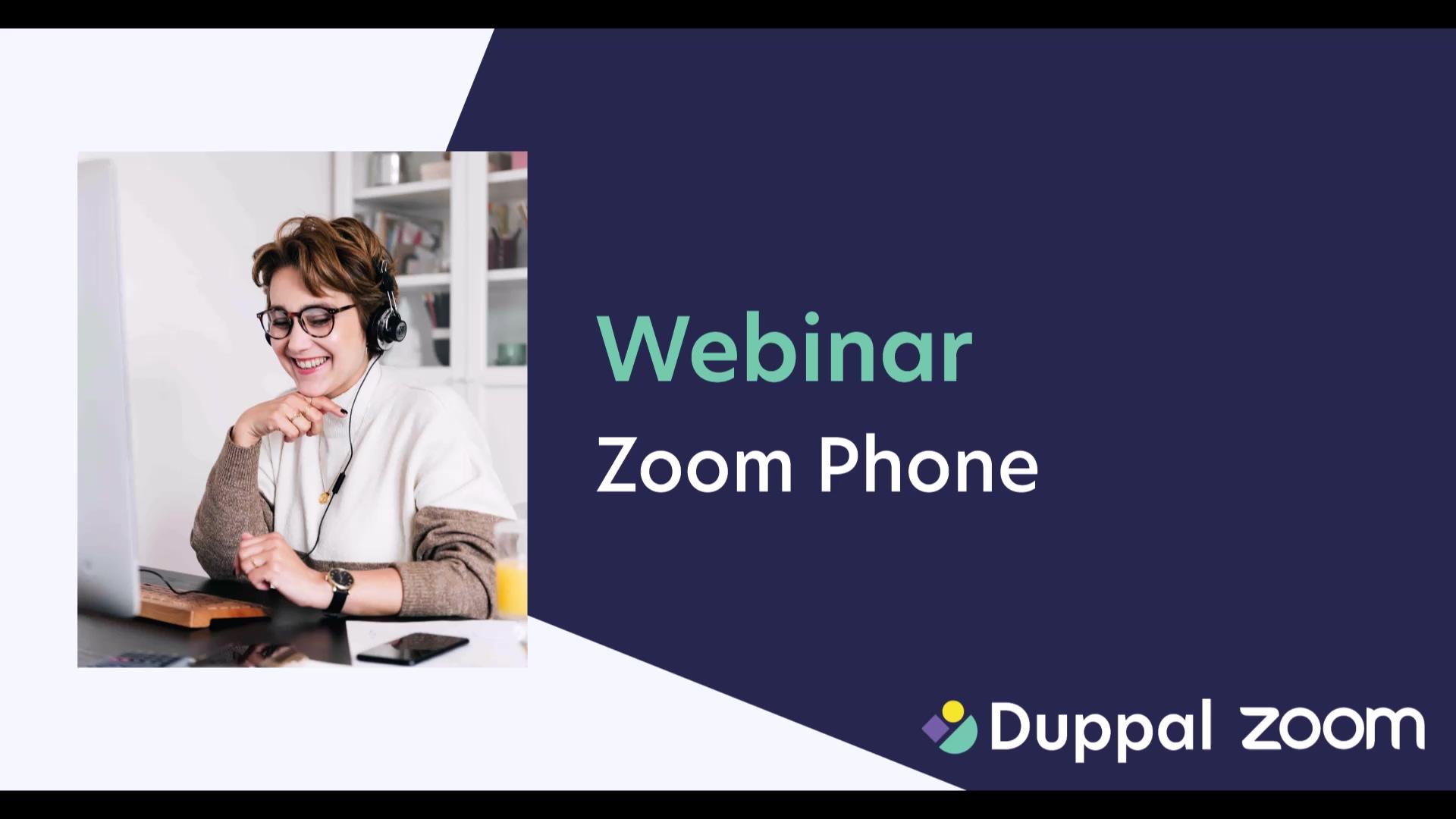 Duppal Webinar - Zoom Phone NL