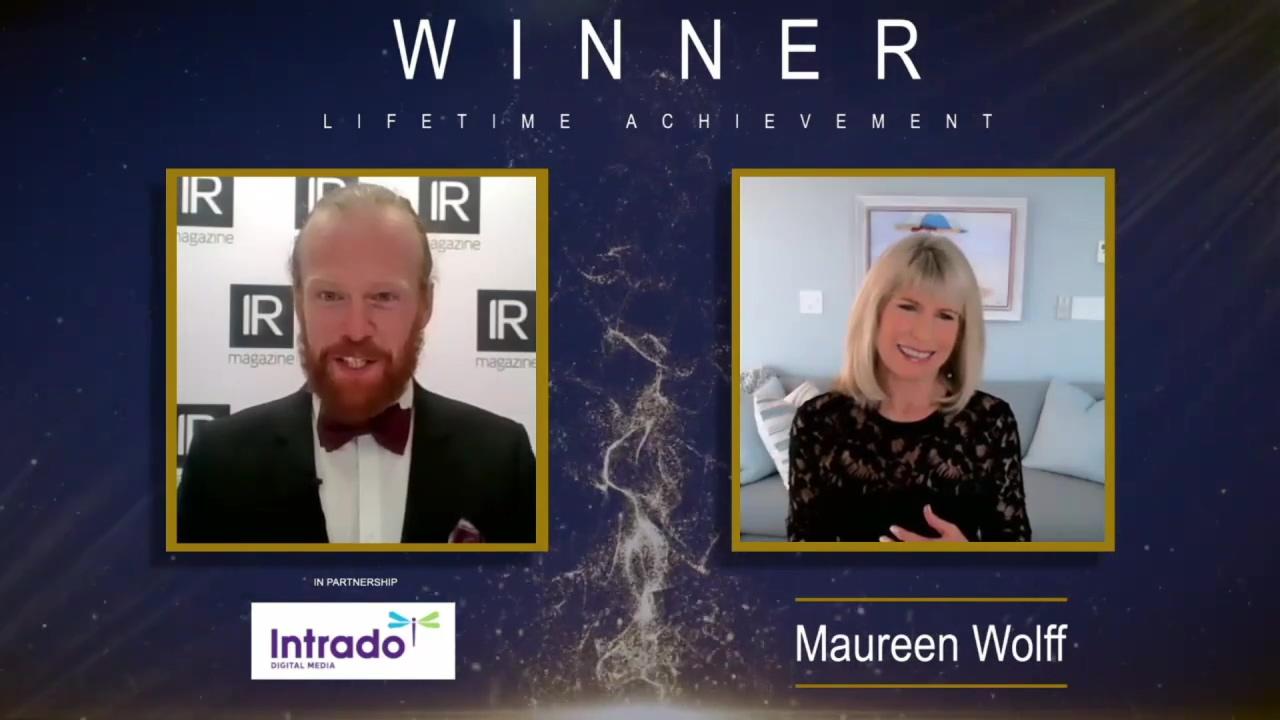 IR Magazine Awards - US 2021 - Lifetime achievement winner Maureen Wolff (2)