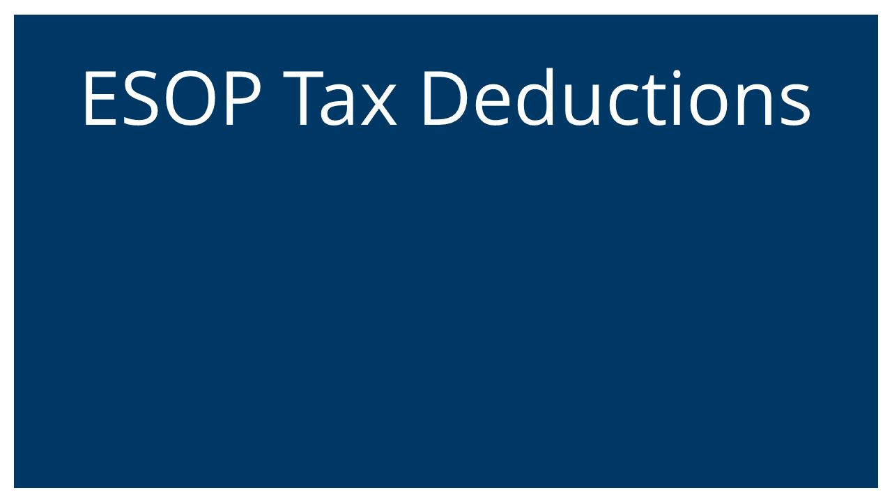 ESOP Tax Dedecutions (Succession Planning & ESOPs Webinar)