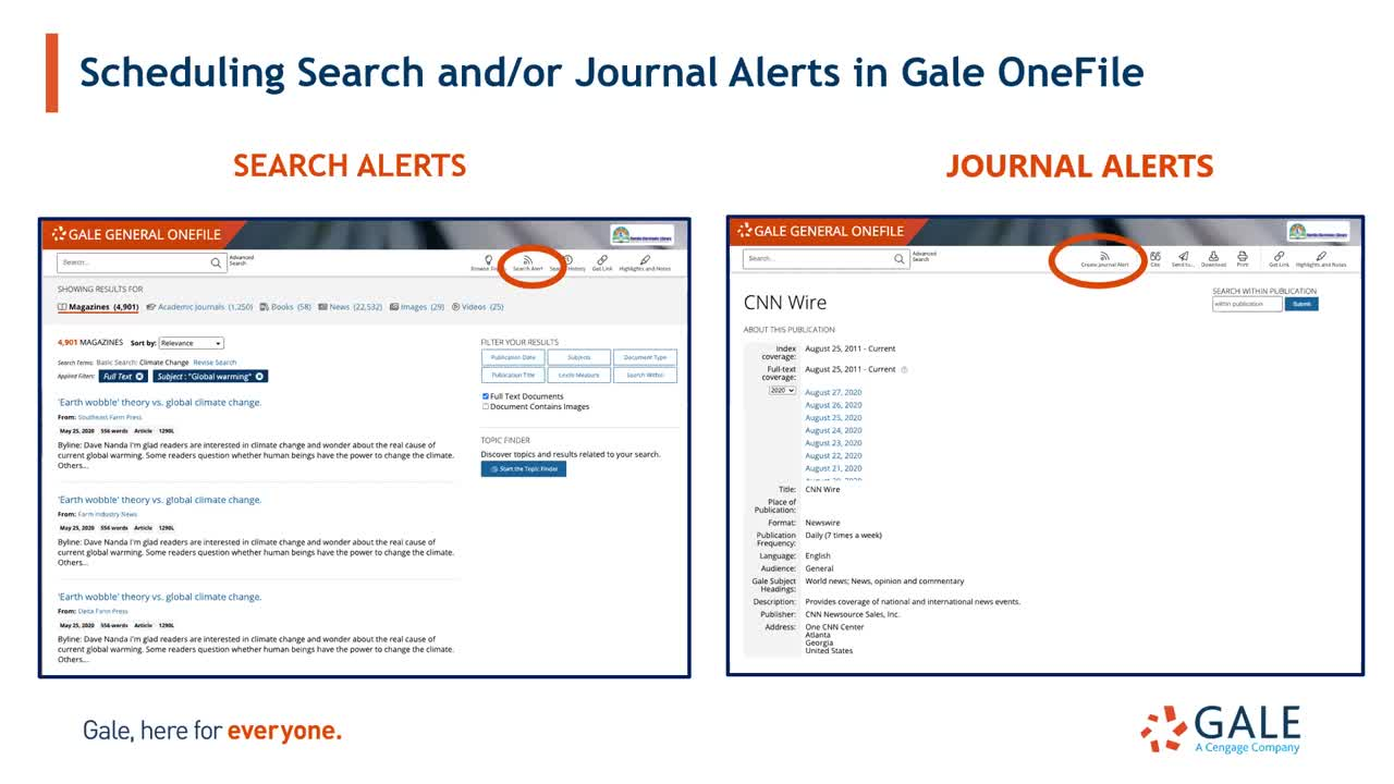 15 Minutes to Mastery: Create News Alerts in Gale OneFile Periodical Resources Thumbnail