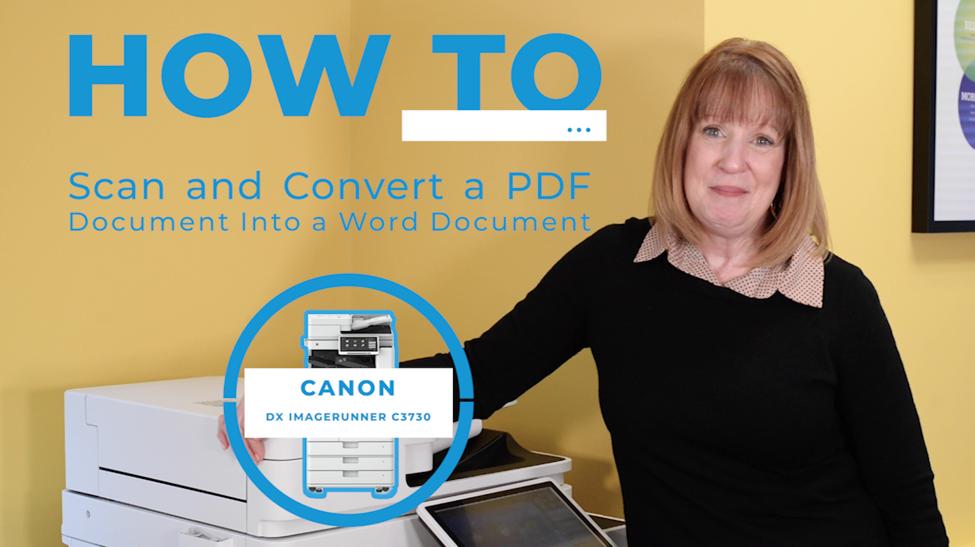 How to Use the Scan to Word Feature to Convert a PDF Into a Word Document