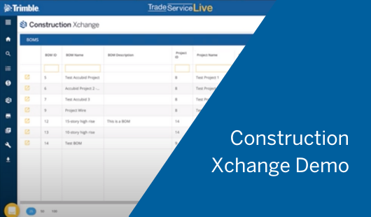 [Demo Video] Trimble Construction Xchange