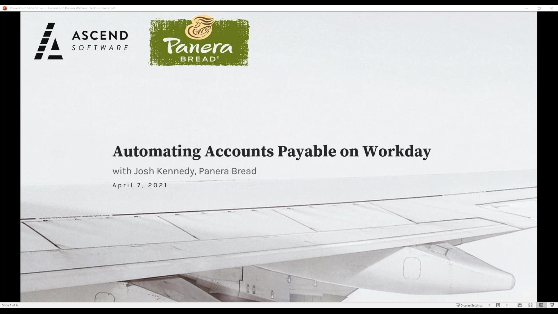 Ascend Webinar - How Panera Automated Accounts Payable on Workday