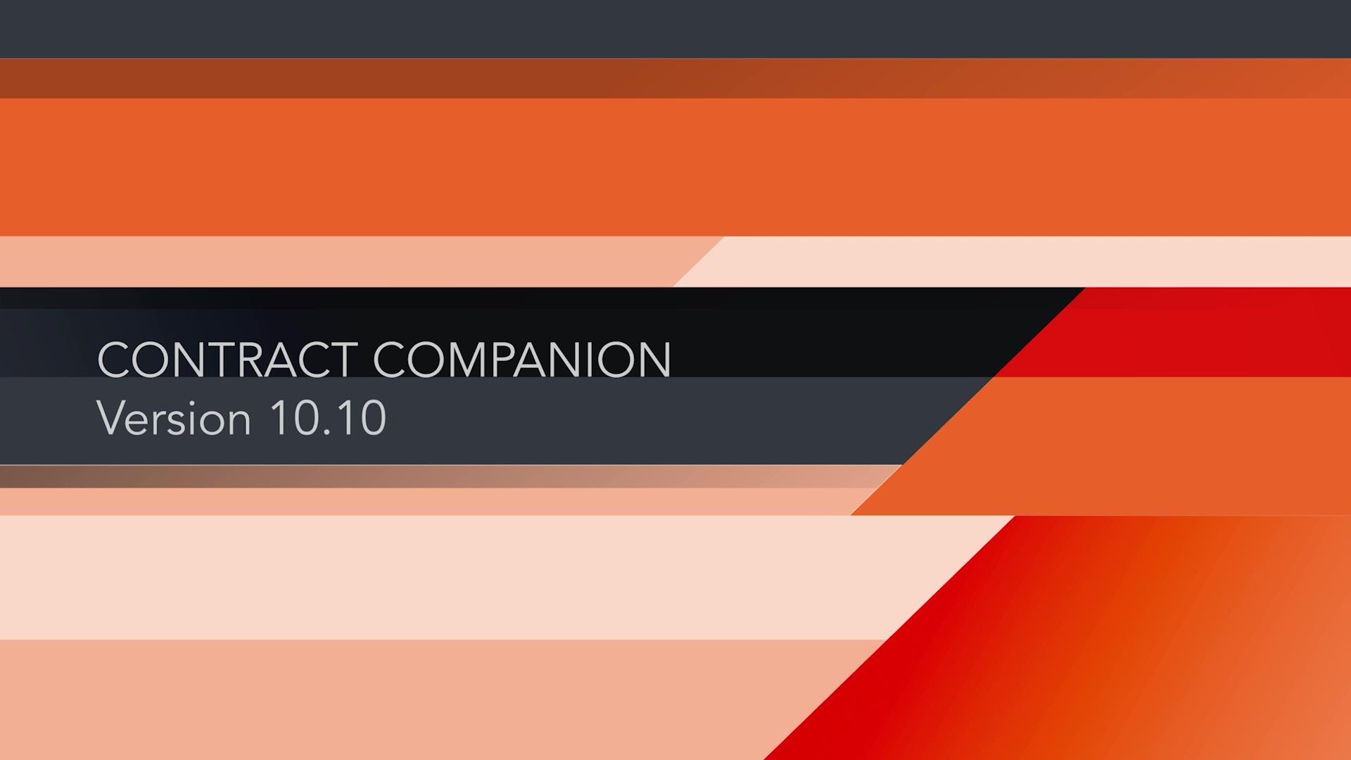 Contract & Litigation Companion, Version 10.10.0