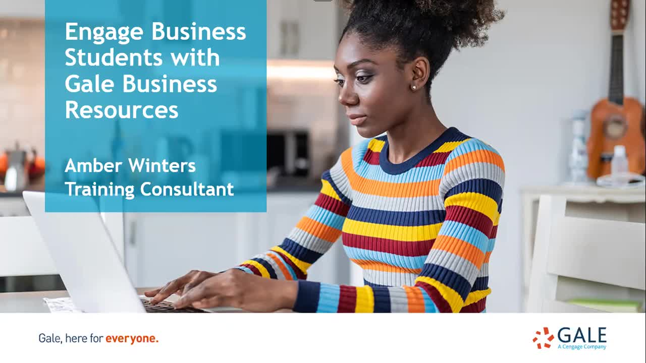 Engage Business Students with Gale Business Resources Thumbnail