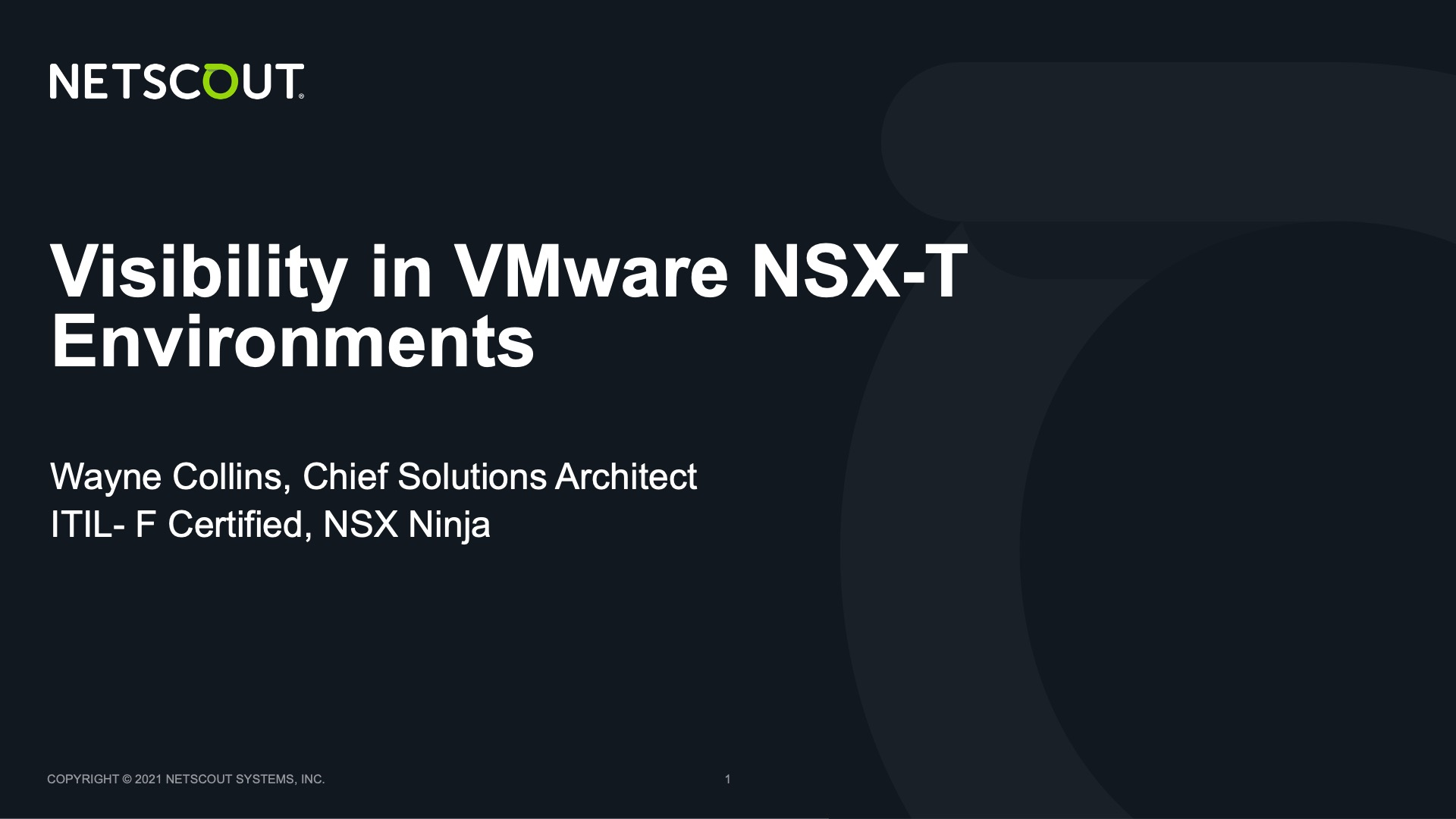 Visibility in VMware NSX-T Environments
