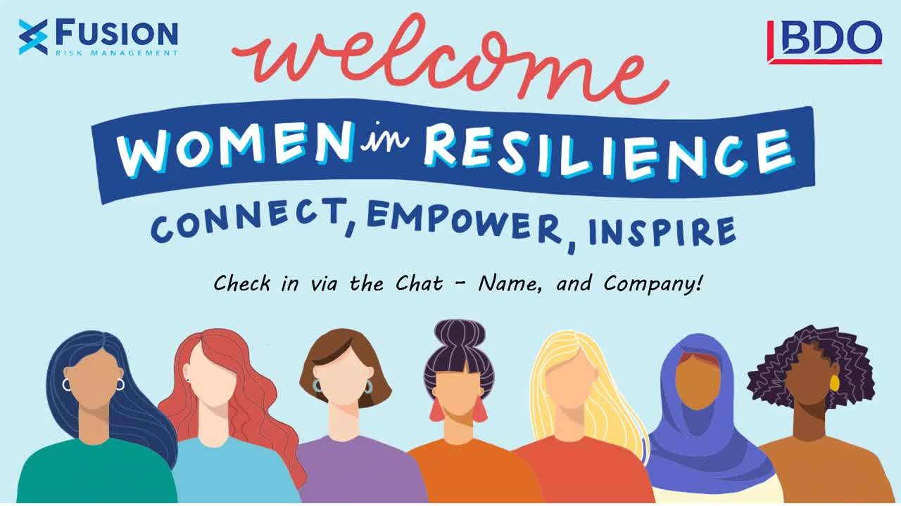 Welcome Women in Resilience-connect, empower, inspire