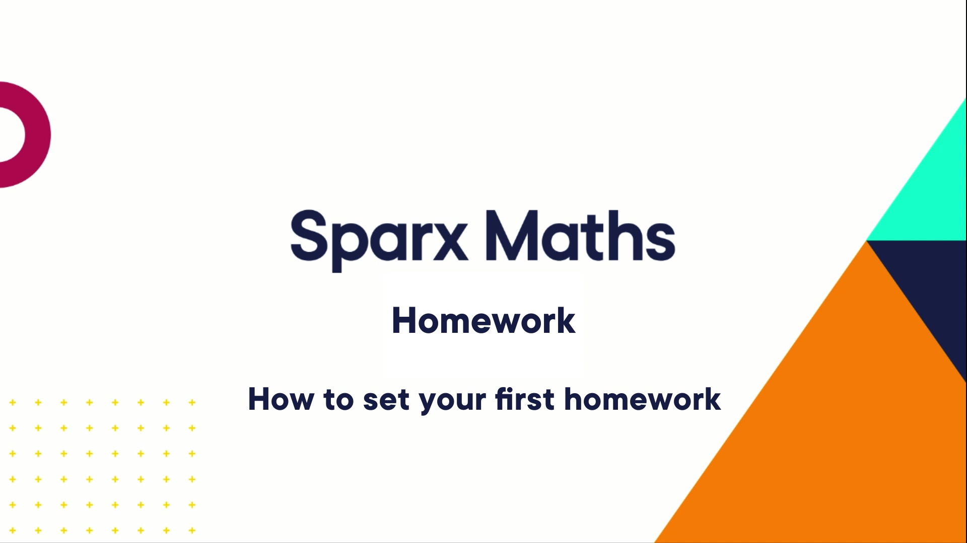 CSV - How to set your first homework