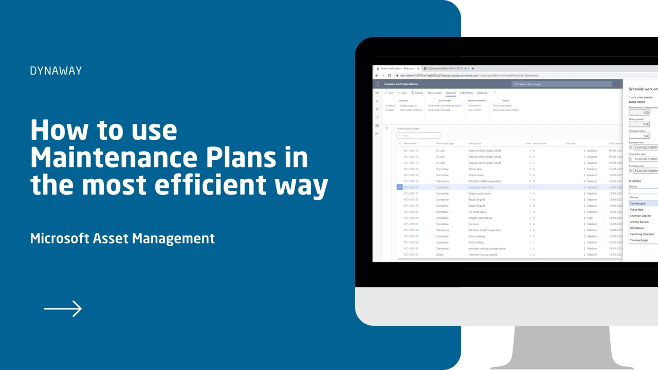 How to use Maintenance Plans in Microsoft Asset Management
