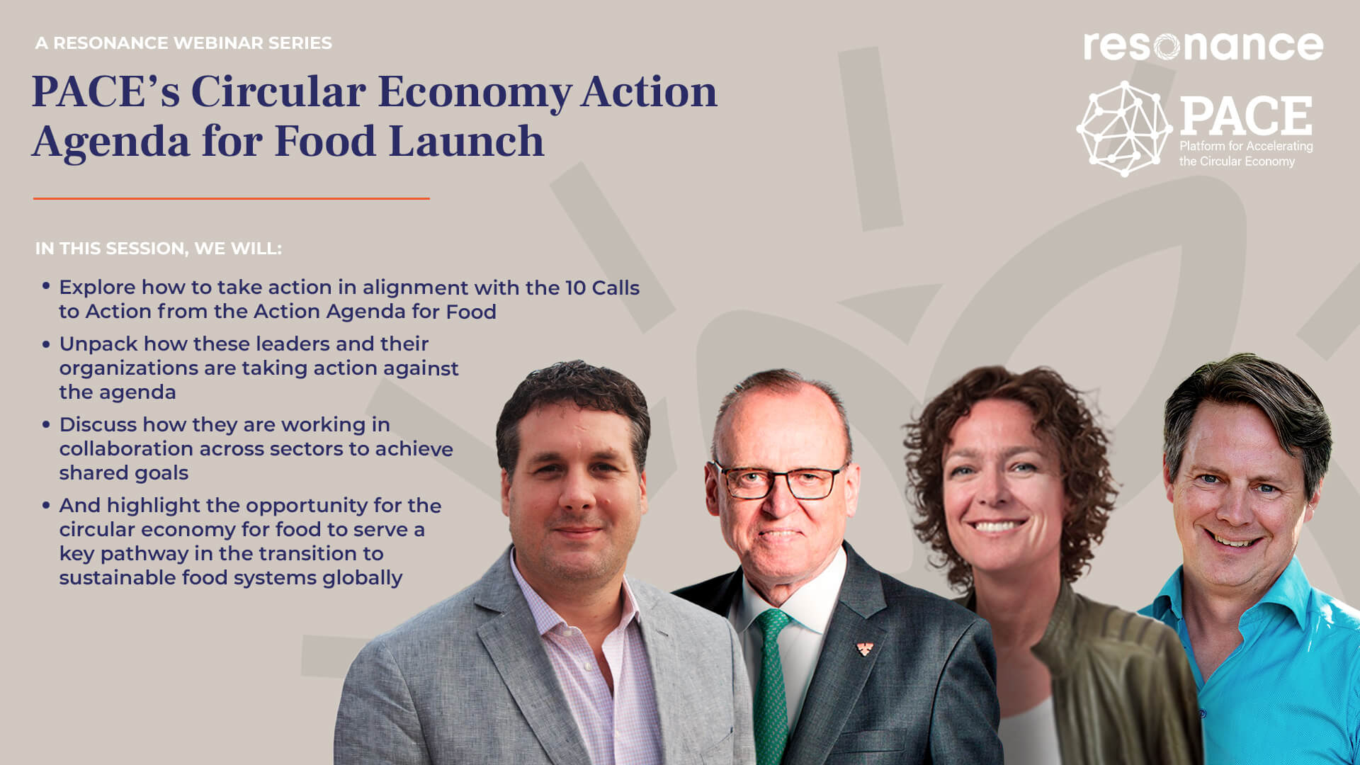Launch Event- The Circular Economy Action Agenda for Food