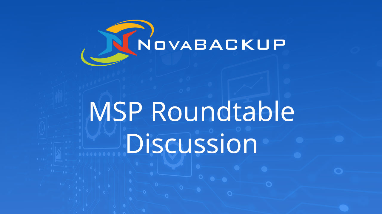 MSP NovaBACKUP Cloud Technical Discussion - March