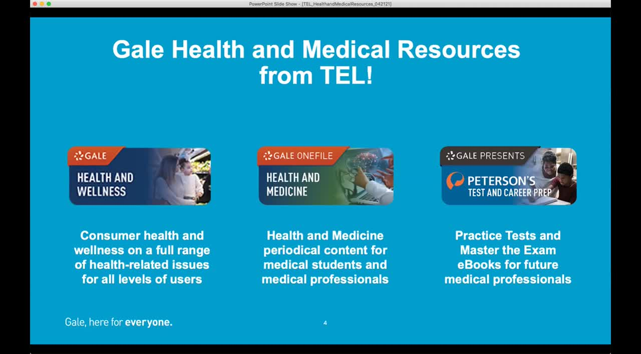 For TEL: Health and Medical Resources at your Library</p></i></b></u></em>