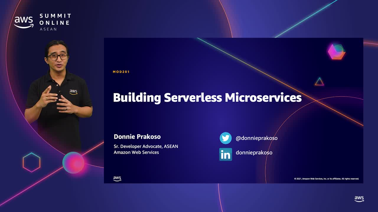 Building serverless microservices with AWS [L200]