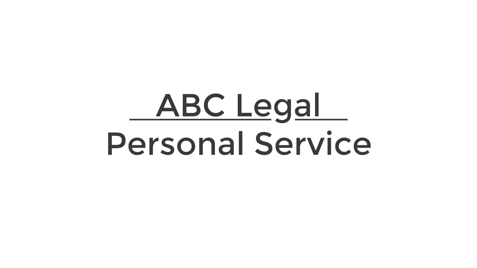 Personal Service 4.22.2021