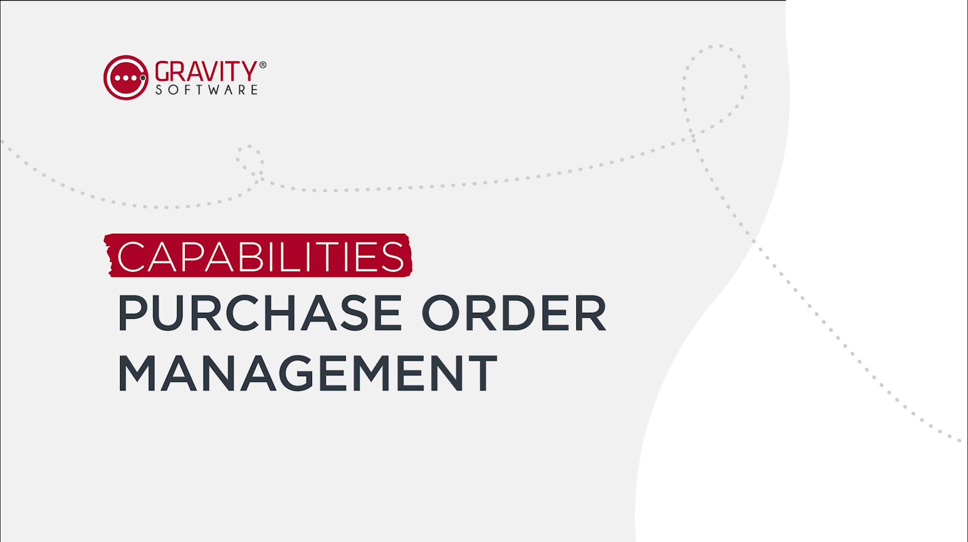 Gravity Software Purchase Order Management Capabilities
