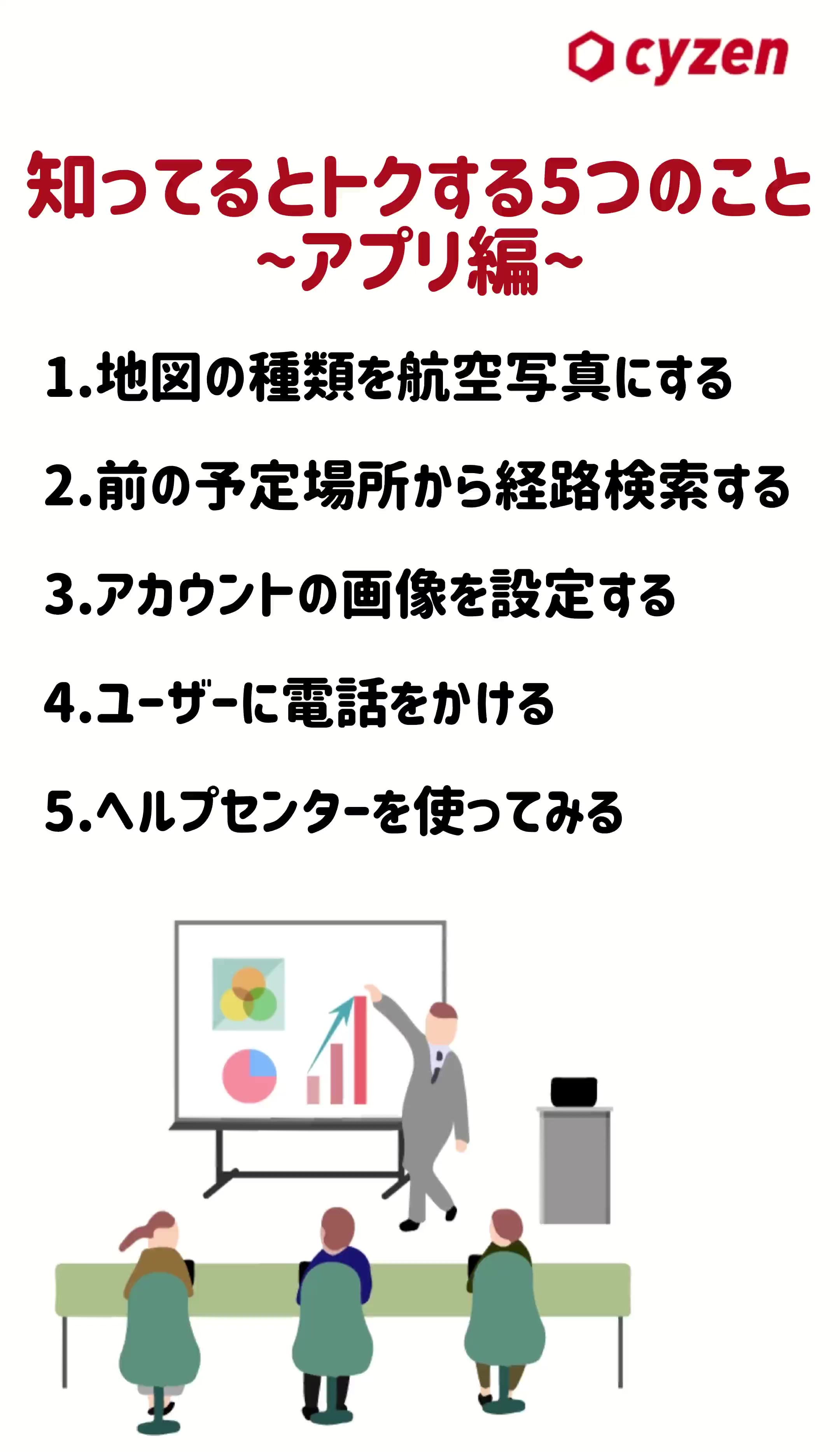 知ってるとトクする5つのこと~アプリ編~