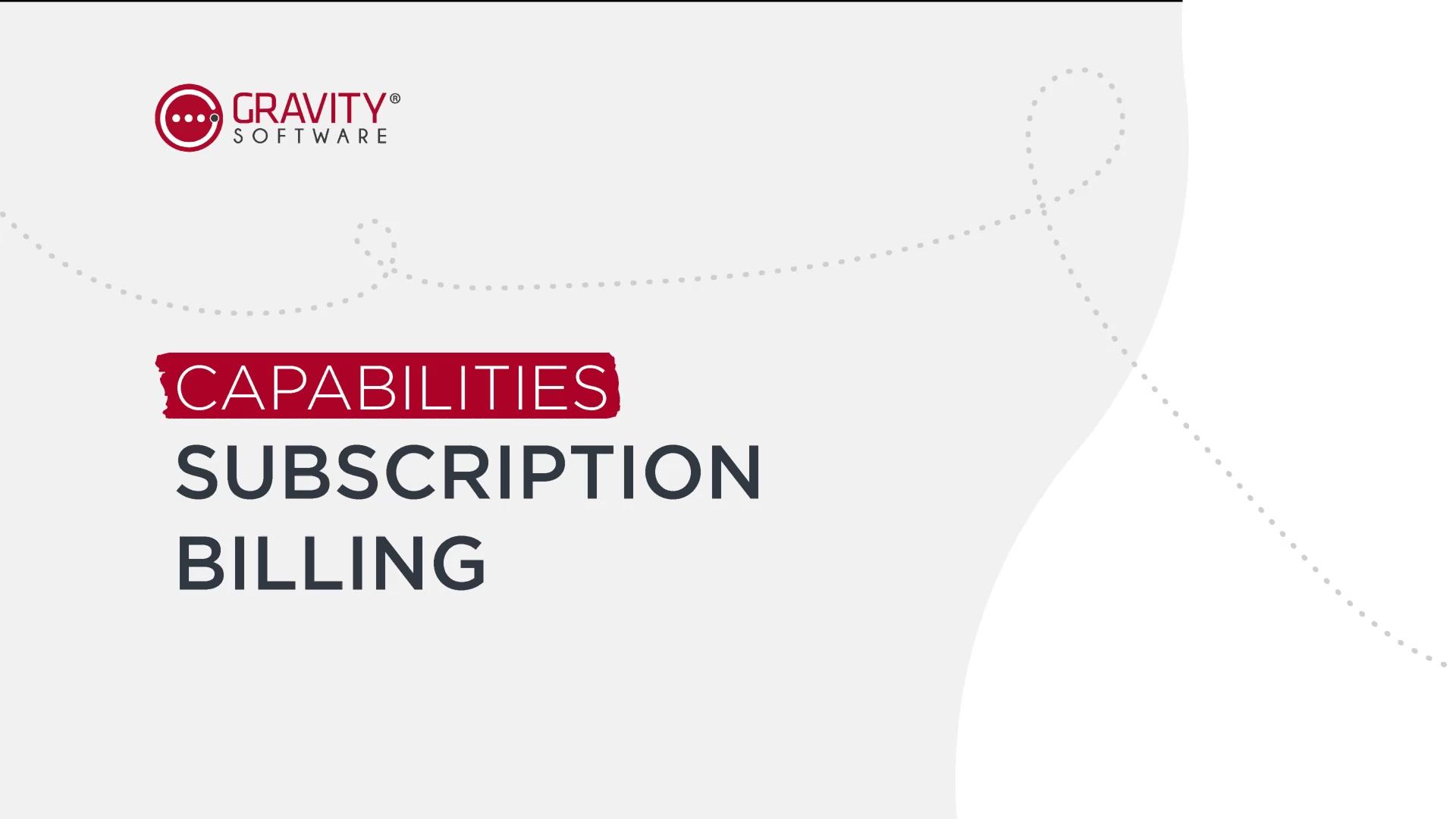 Gravity Software Subscription Billing