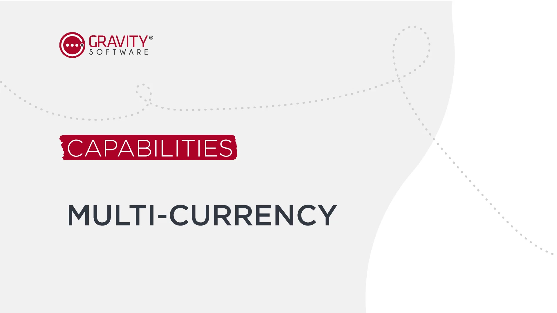 Gravity Software Multi-Currency