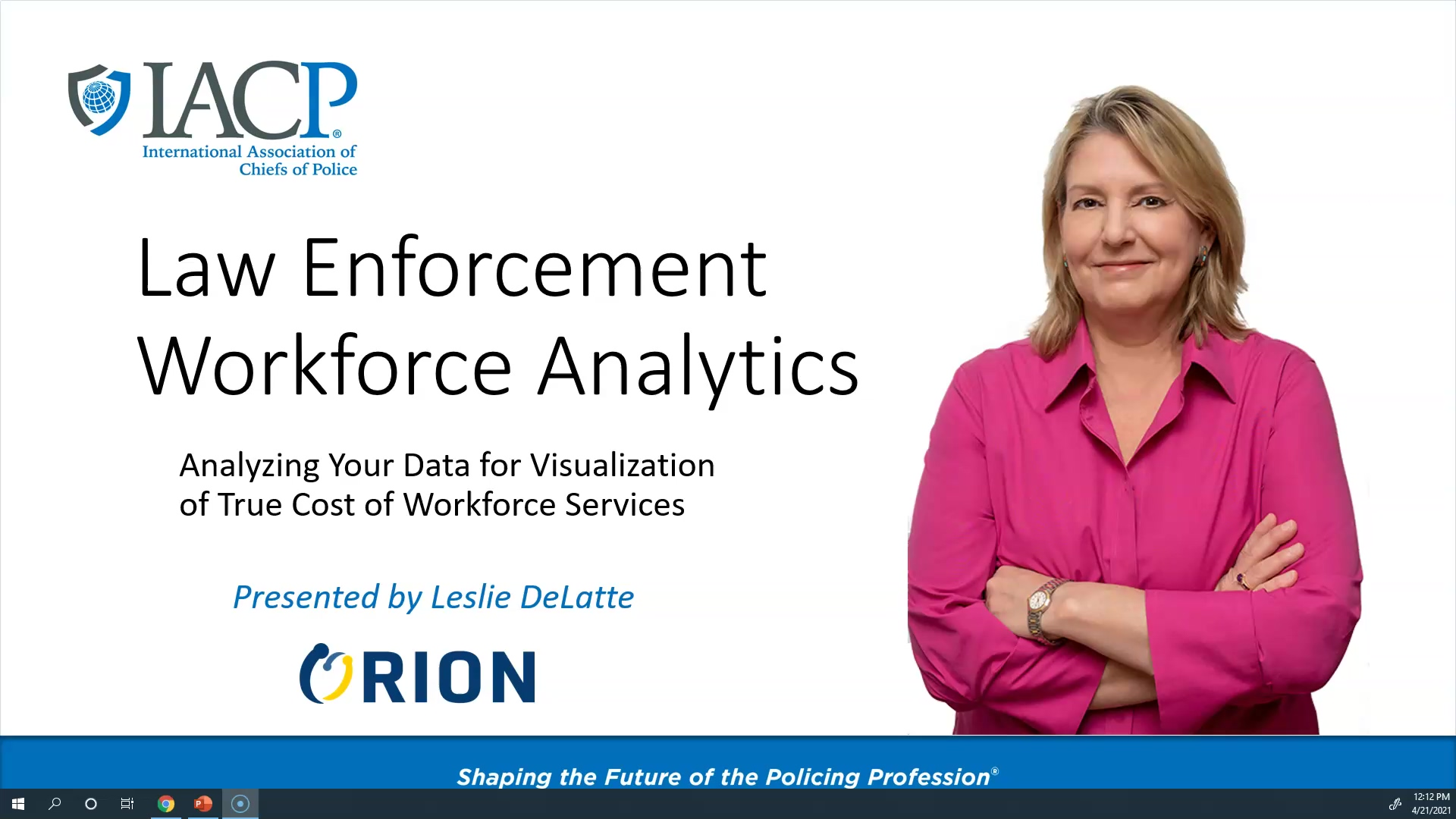 IACP_Orion Analytics for Workforce Costs