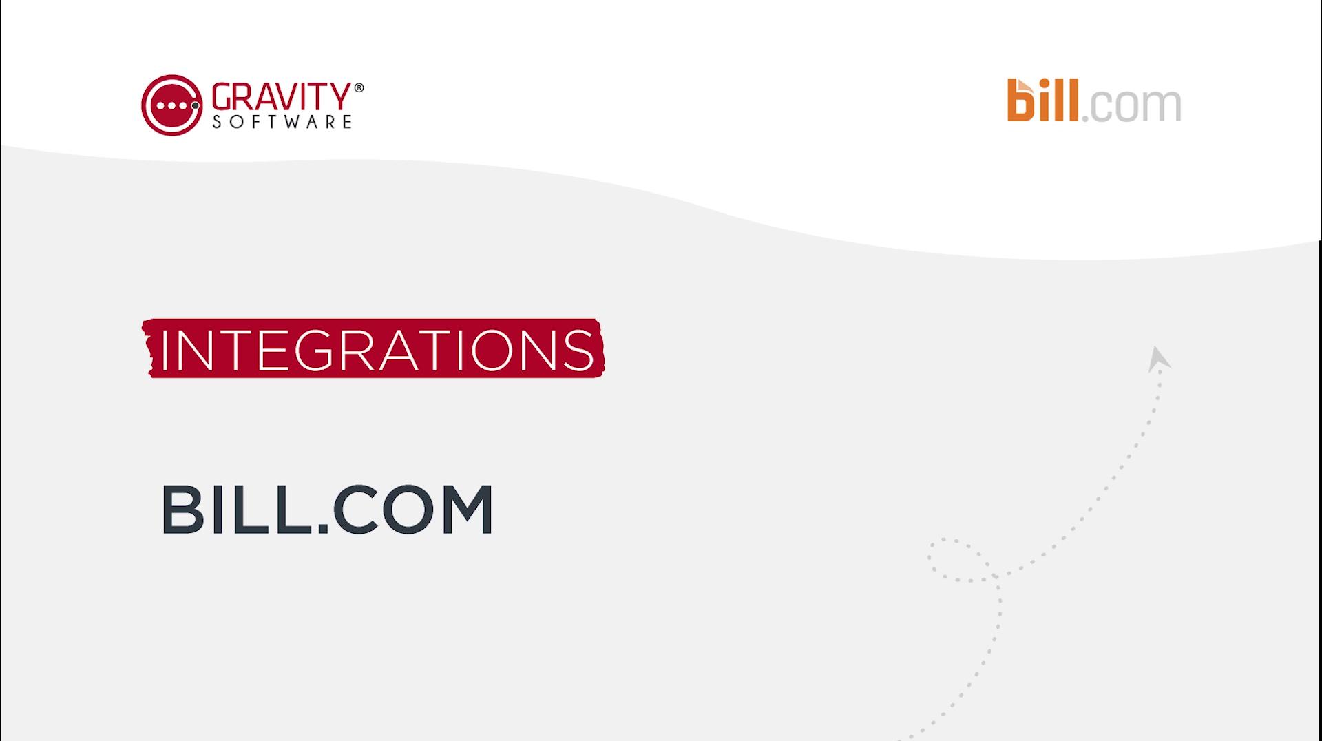 Gravity Software Bill.com Integration