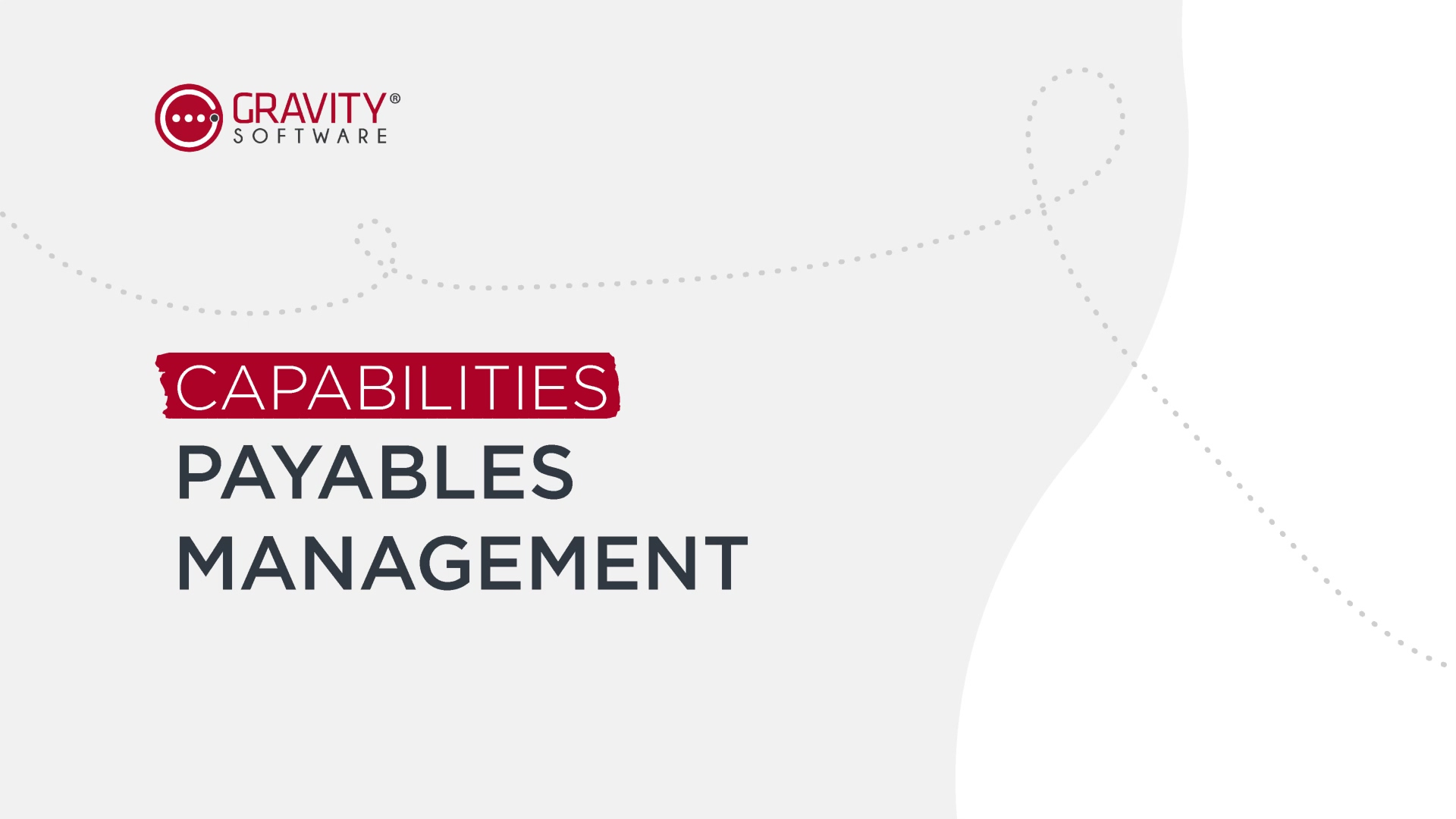 Gravity Software Payables Management