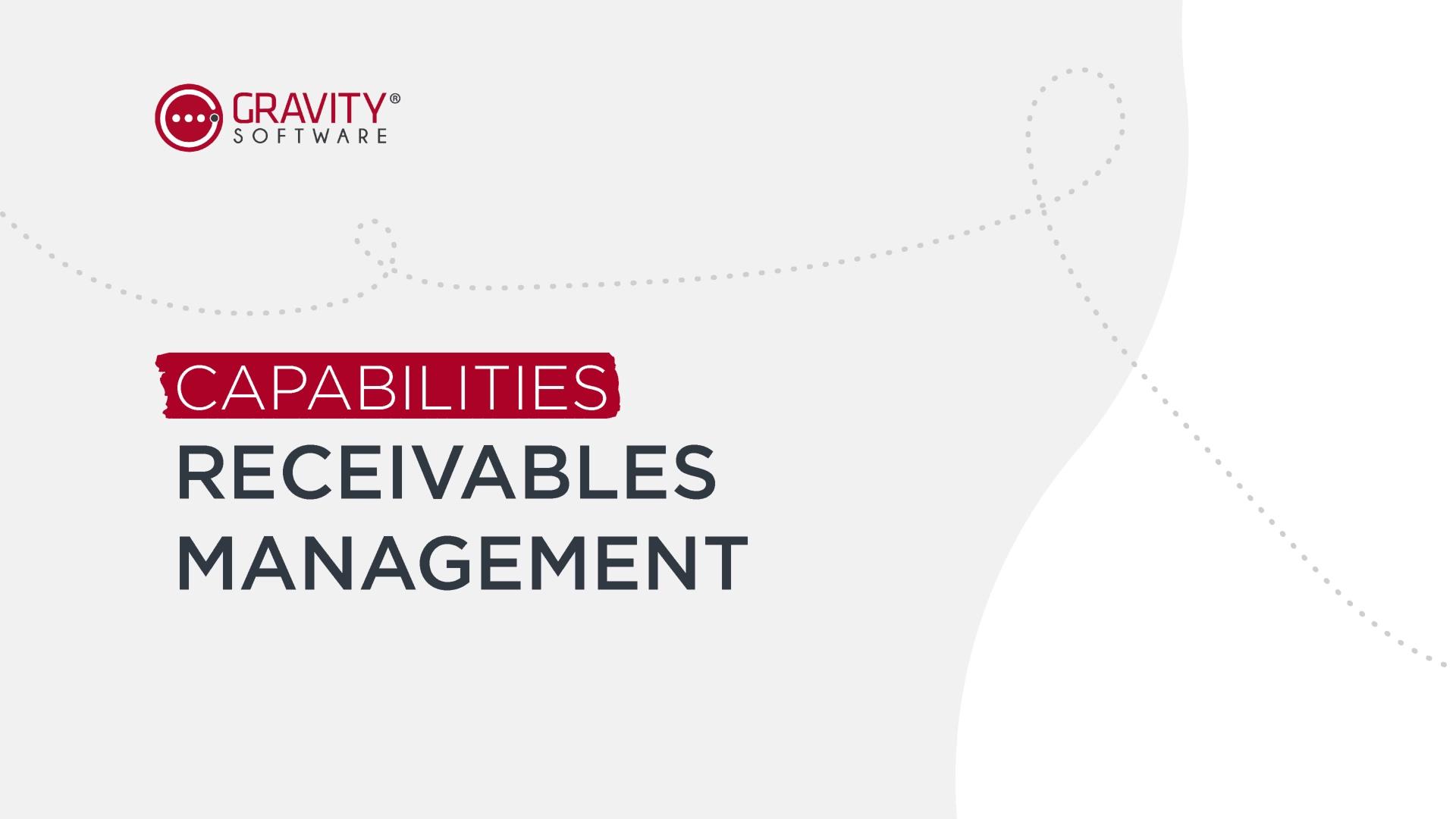 Gravity Software Receivables Management