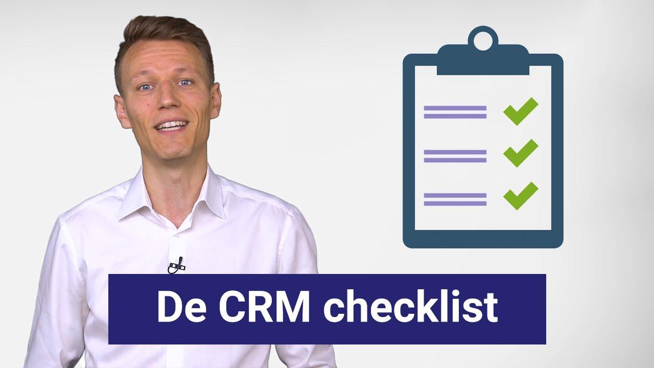 CRM checklist - breng jouw CRM-behoeften in kaart