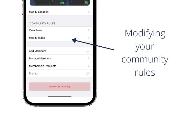 Editing Community Rules