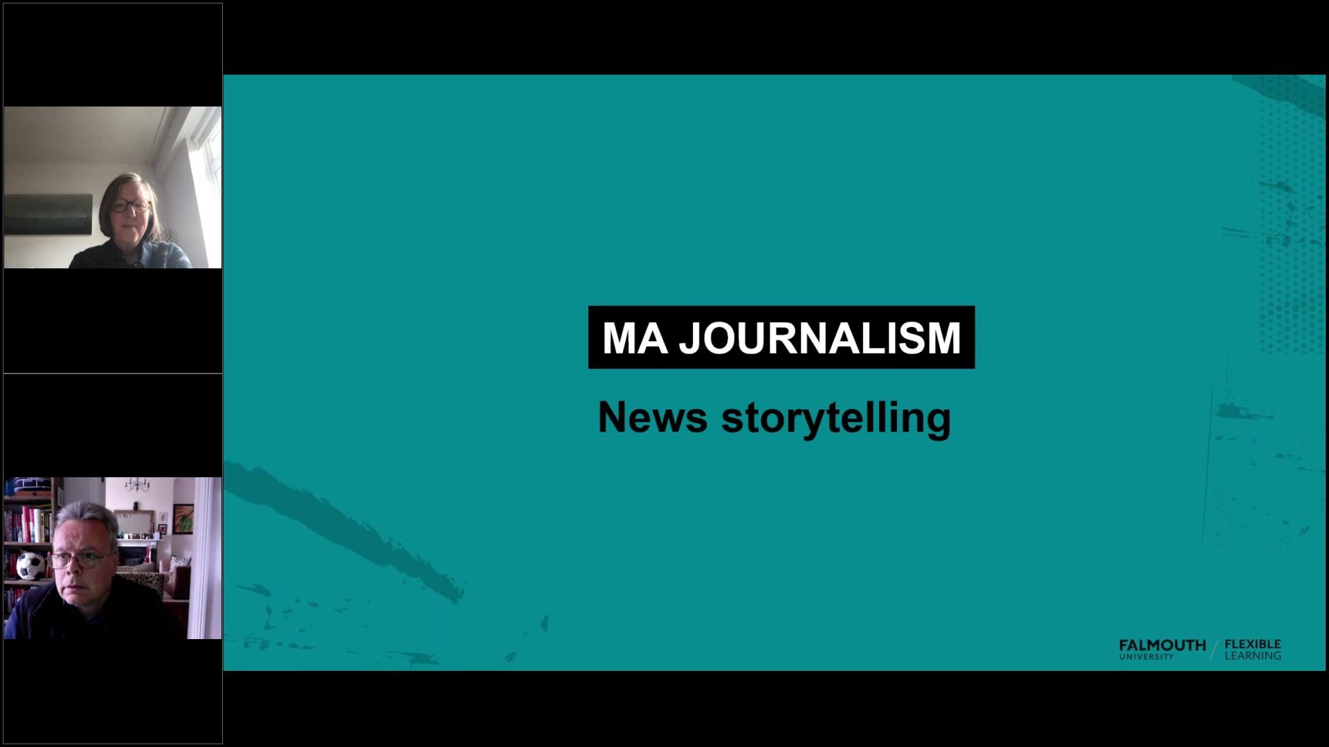 Video MA Journalism - News storytelling