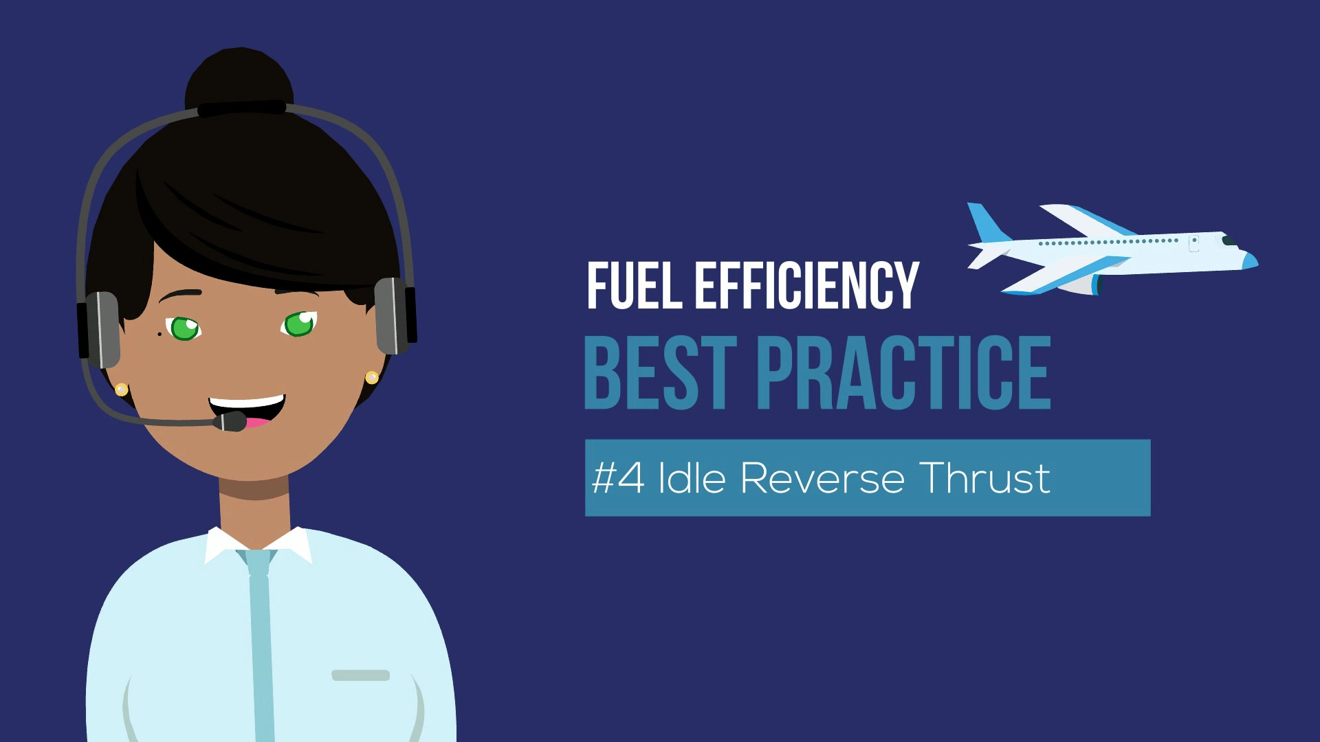 Fuel savings best practice - Idle Reverse Thrust