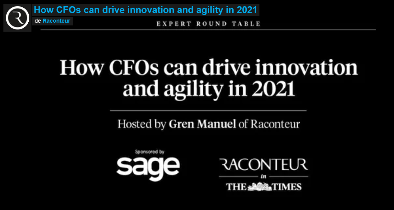 How CFOs can drive innovation and agility in 2021