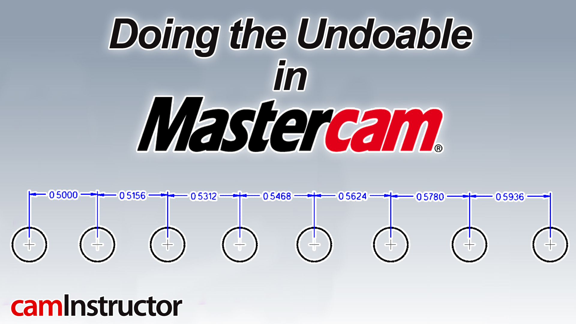 doing the undoable in mastercam
