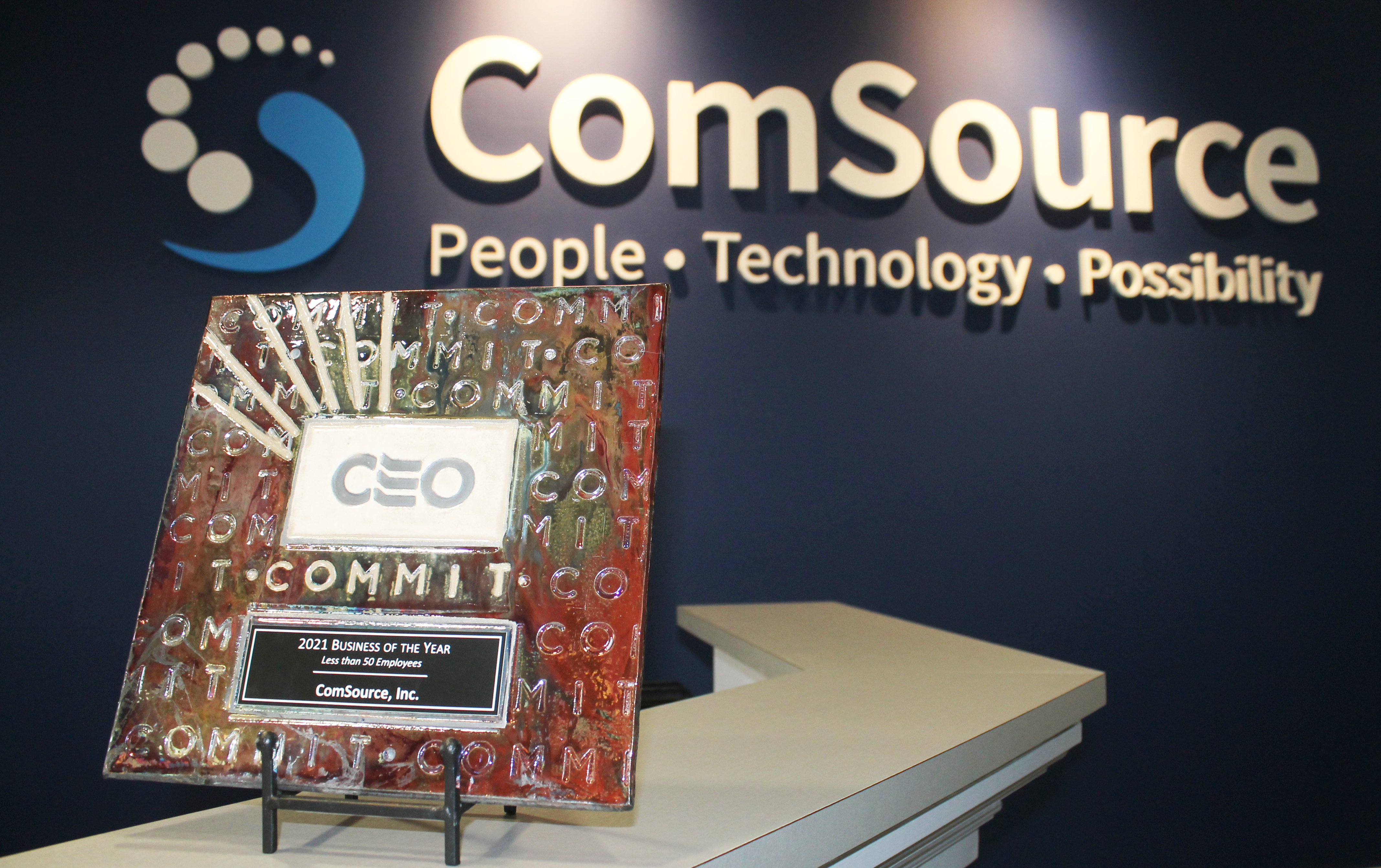 CS CEO Business of the Year 2021 -  Less Than 50 Employees - ComSource