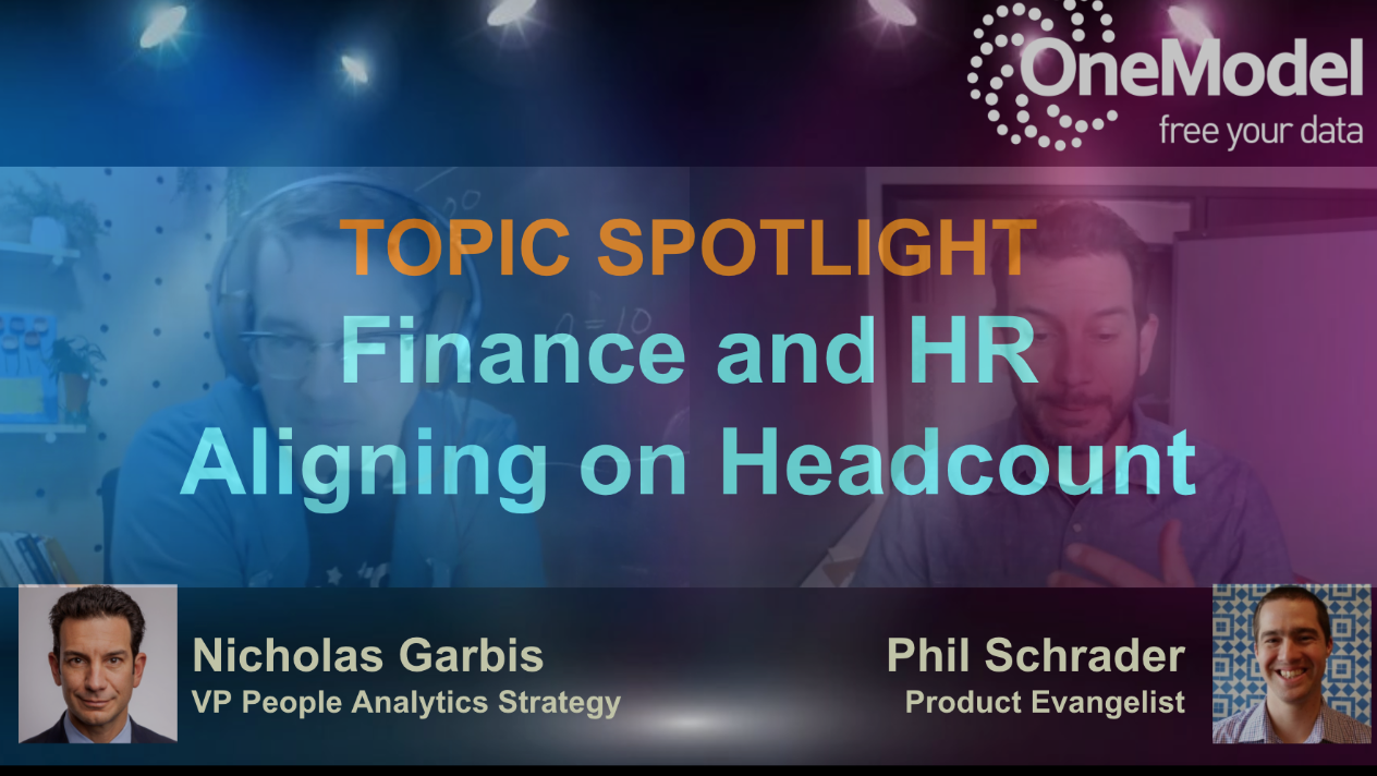 Video on Finance and HR aligning on Headcount (04may2021)