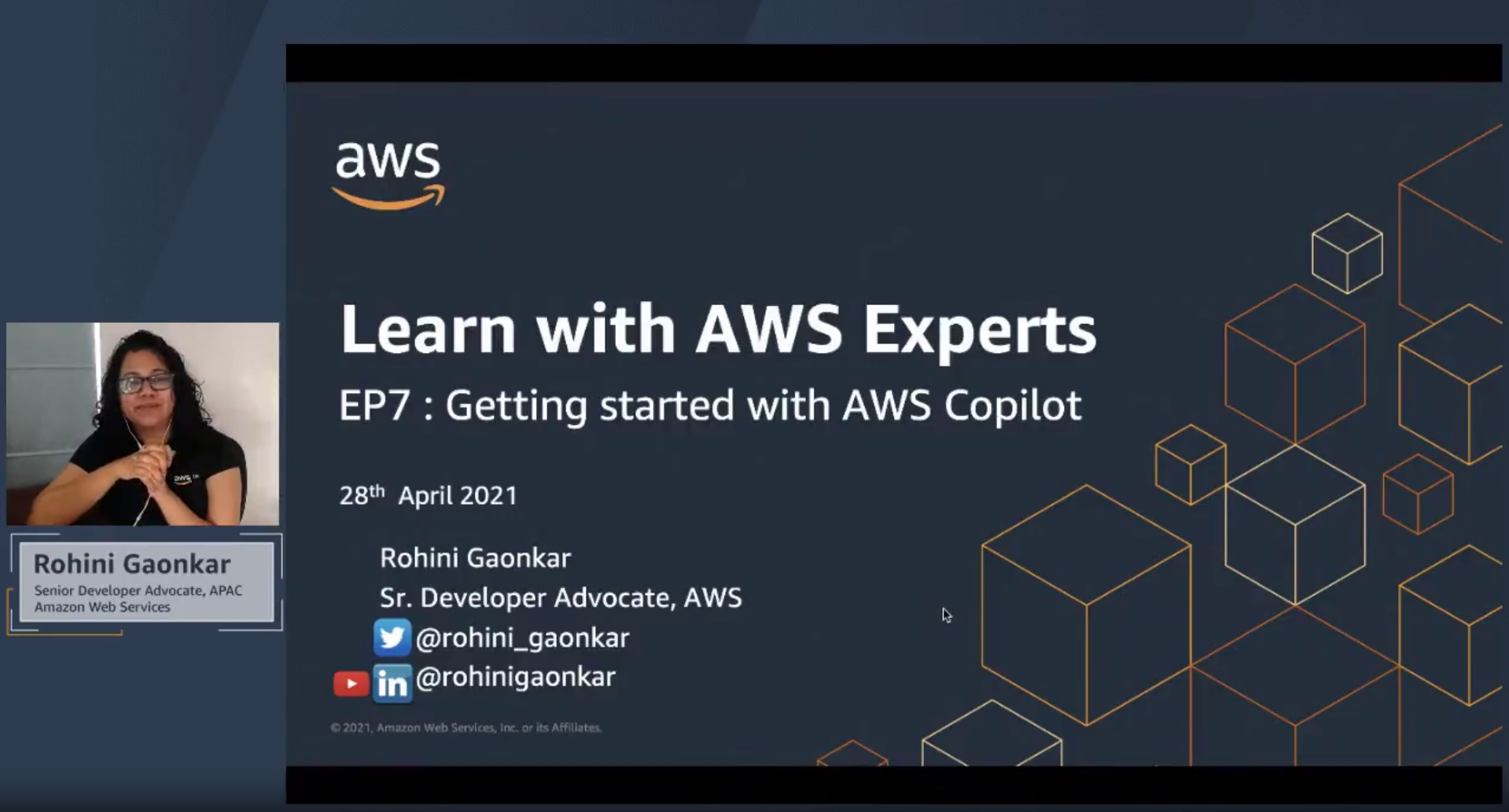 Learn with AWS Experts : EP7 Getting Started with AWS Copilot